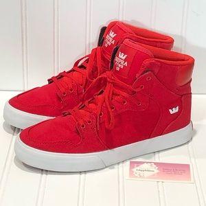 Supra Vaider Justin Bieber Red Sneakers